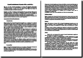 Conseil Constitutionnel, 15 janvier 1975, « arrêt IVG »
