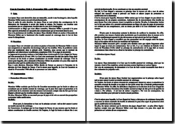 Cour de Cassation, Civile 2, 19 novembre 1986 « arrêt Miller contre époux Haye »