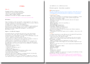 Le coma: une urgence absolue