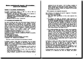 Histoire constitutionnelle française : de la Révolution à la seconde République