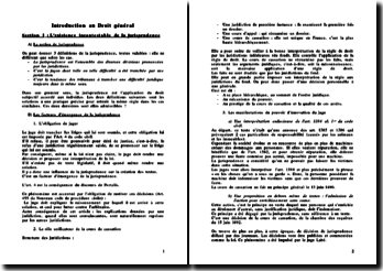 Introduction au droit général