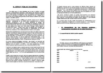 El deficit público en España