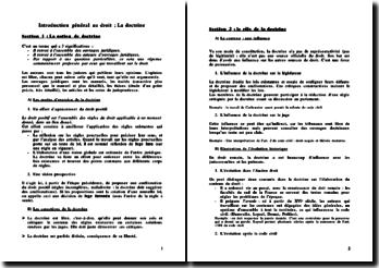 Introduction général au droit: la doctrine