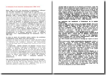 La naissance d'une économie contemporaine (1880-1914)