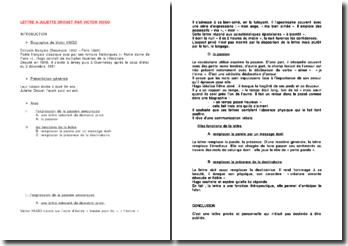 Lettre à Juliette Drouet - Victor Hugo