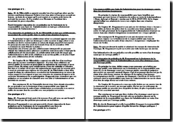 La responsabilité sans faute de l'administration: étude de cas