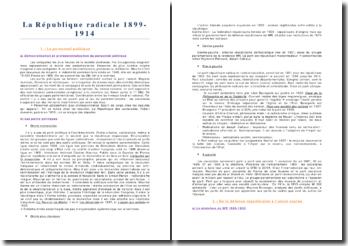 La République radicale 1899-1914