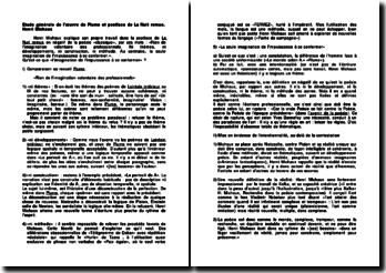 Etude générale de l'oeuvre de Plume et postface de La Nuit remue, Henri Michaux