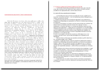 Droit constitutionnel : révision de l'article 89