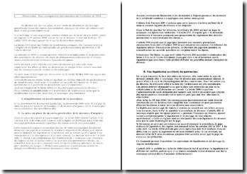 Droit civil : les conséquences patrimoniales de la réforme de 2004