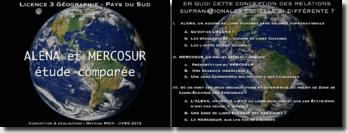 Etude comparée: Alena et Mercosur