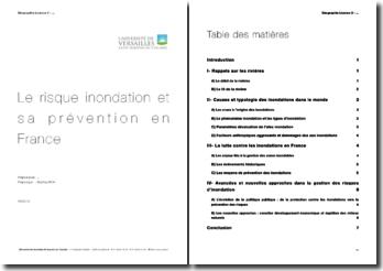 Le risque d'inondation et sa prévention en France