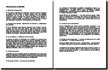 Principe généraux du PCG 1982
