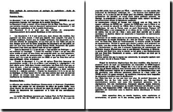Entre apologie du communisme et apologie du capitalisme : étude de documents