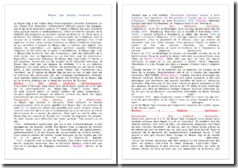 Moyen âge: étude et historiographie
