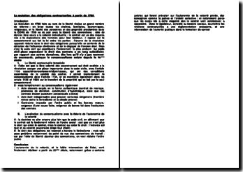 La mutation des obligations contractuelles à partir de 1789