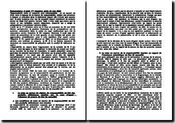 Commentaire d'arrêt de la première Chambre civile de la Cour de cassation du 22 mai 2008: le préjudice né de la présomption de défectuosité d'un produit