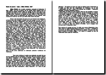 Etude du poème « 3h56 », Gilles Ortlieb, 1997
