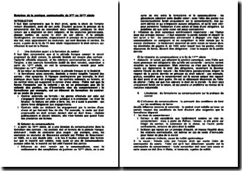 Mutation de la pratique contractuelle du 5e au 18e siècle