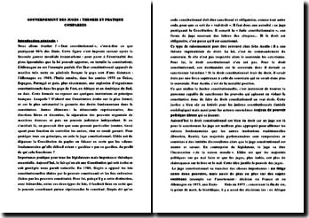 Gouvernement des juges: théories et pratiques comparées