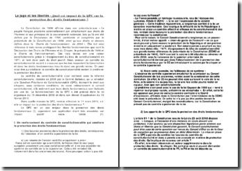 Le juge et les libertés: quel est impact de la QPC sur la protection des droits fondamentaux ?