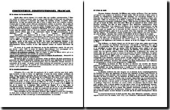 Le contentieux constitutionnel francais