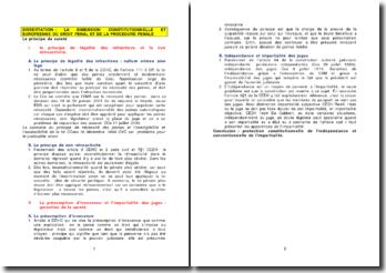 La dimension constitutionnelle et européenne du droit pénal et de la procédure pénale