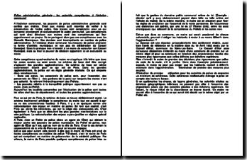 Police administrative générale: les autorités compétentes à l'échelon communal