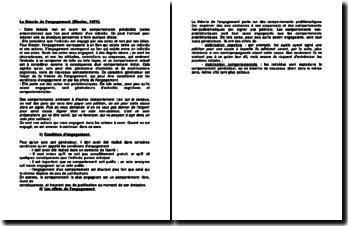 La théorie de l'engagement (Kiesler, 1971)