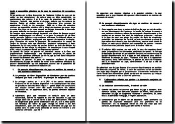 Arrêt d'assemblée plénière de la cour de cassation, 24 novembre 1989