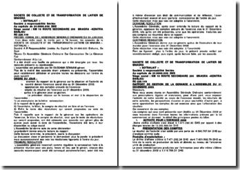 Procès verbal de l'assemblée générale ordinaire du 30 juin 2009: société Sotralait
