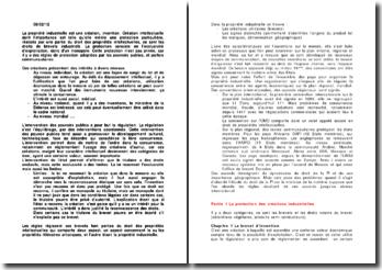 Droit de la propriété industrielle - brevet d'invention, effets et conditions de la protection