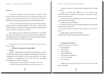 La démarche qualité totale, cas ENIEM (entreprise nationale des industries de l'électroménager)