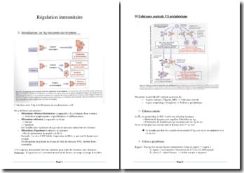La régulation immunitaire