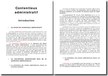 Le contentieux adminstratif