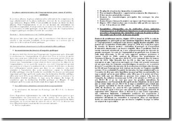La phase administrative de l'expropriation pour cause d'utilité publique