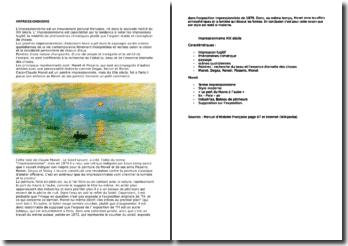 L'impressionisme: caractéristiques et Monet