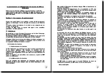 Le gouvernement et l'administration du royaume du XIVe au XVIII siècle