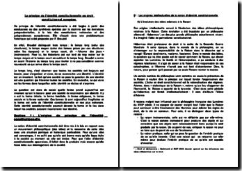 Le principe de l'identité constitutionnelle en droit constitutionnel européen