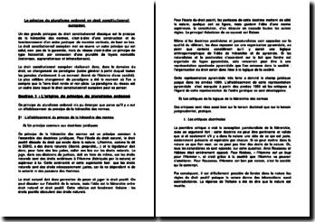 Le principe du pluralisme ordonné en droit constitutionnel européen