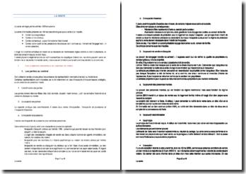 Le contrat de vente - éléments essentiels, formation et implications