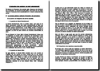 L'exécution des contrats en droit administratif