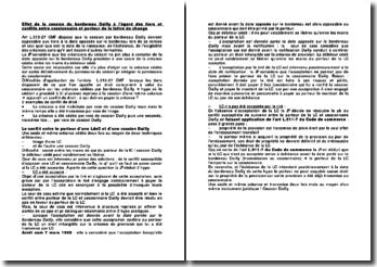 Effet de la cession du bordereau Dailly à l'égard des tiers et conflits entre cessionnaire et porteur de la lettre de change