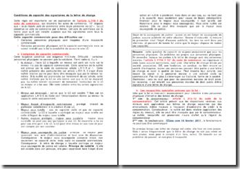 Conditions de capacité des signataires de la lettre de change