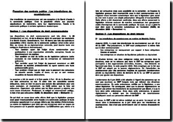 Passation des contrats publics: les interdictions de soumissionner