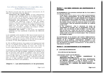 Les réformes budgétaires et comptables des Collectivités territoriales