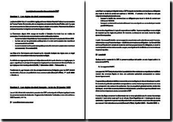 Les règles de passation des contrats de Droit des Services Publics