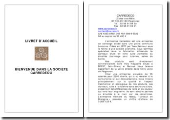 Livret d'accueil: bienvenue dans la société Carrededo