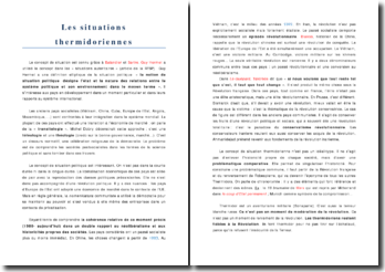 Les situations thermidoriennes