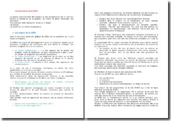 Les démarches de la gestion prévisionnelle des emplois et des compétences (GPEC)
